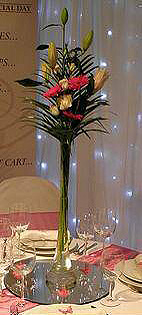 tall vase centerpiece