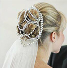 updo with pearls