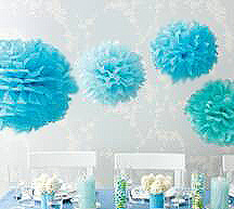 homemade tissue paper flowers