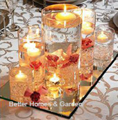 candles mirror centerpiece