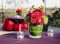 green and red centerpiece