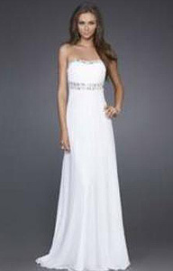 evening gown instead of wedding dress